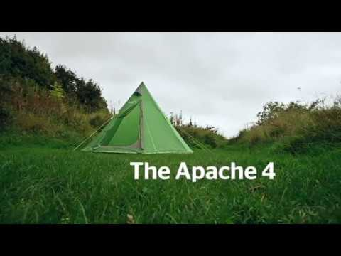 Freedom Trail Apache 4 Tipi Tent - YouTube