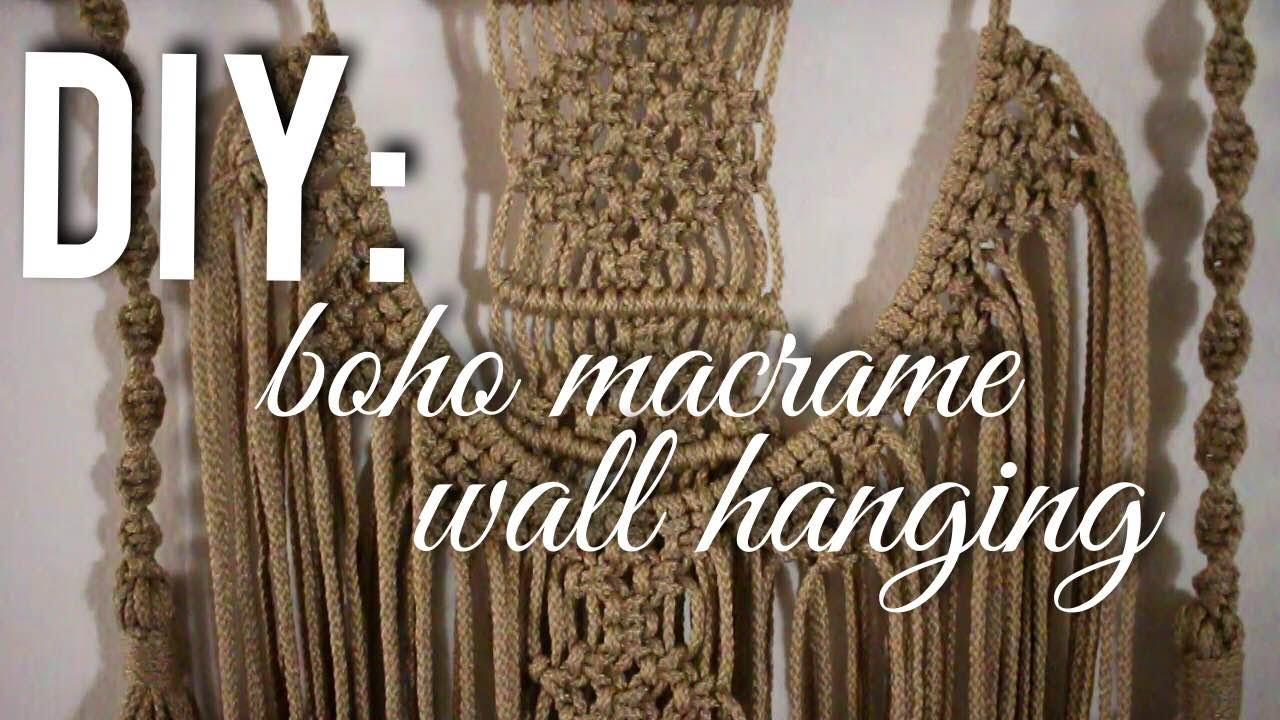 Boho Wall Hanging diy boho macrame wall hanging | diana moore - youtube
