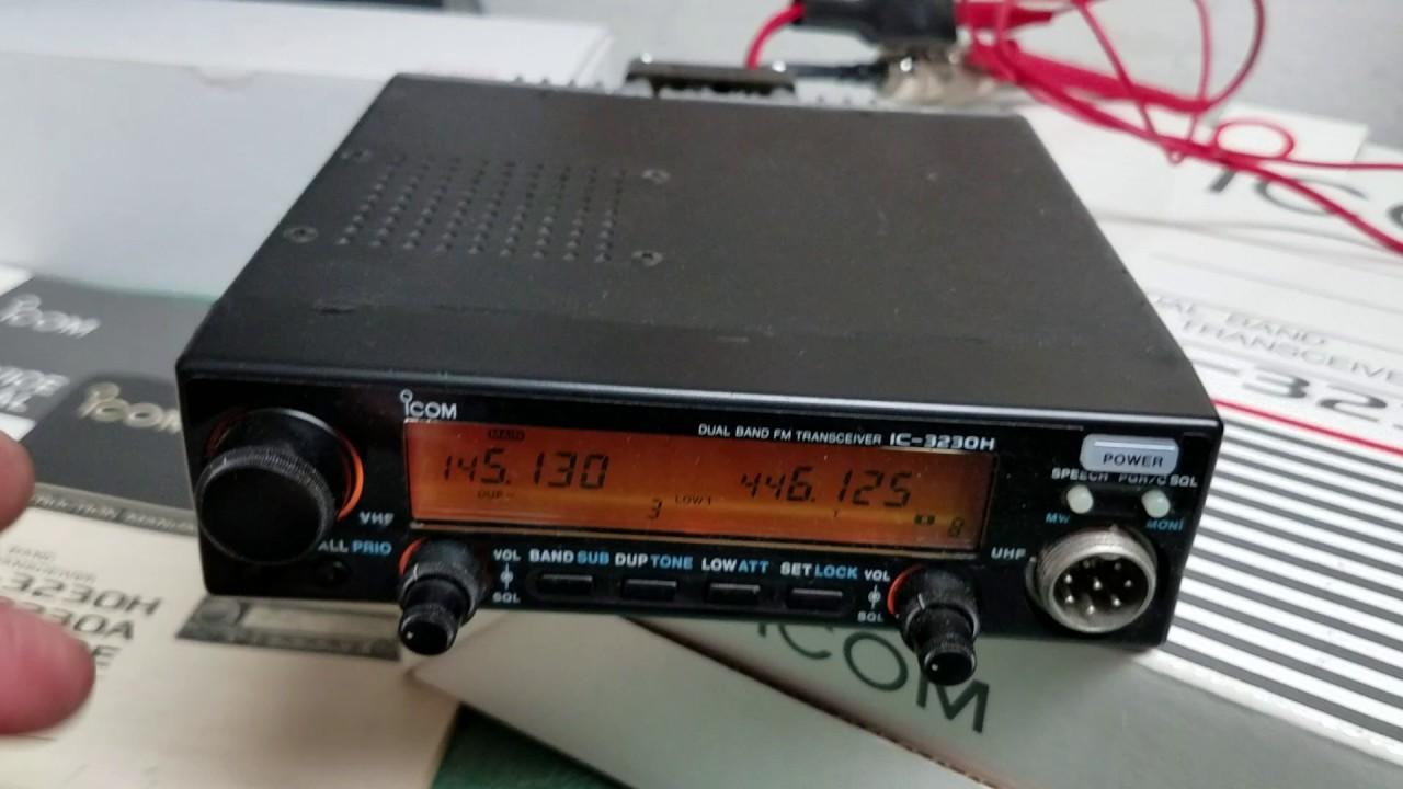 ICOM IC-3230H Dual Band Mobile 2M - 70CM FM Transceiver