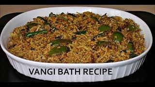 Vangi Bath Recipe Karnataka Style | How To Make Vangi Bath Recipe | Vanki Bath Recipe In Tamil