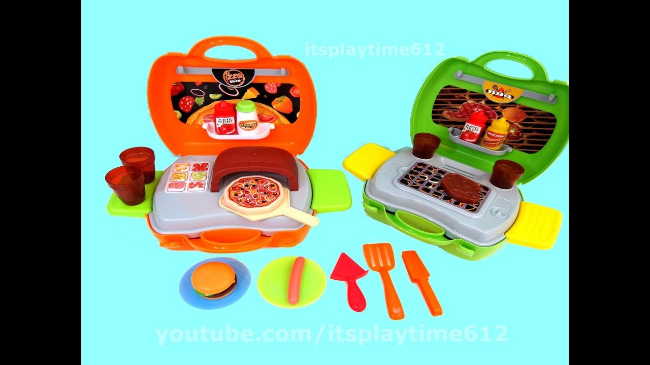 My Carry Along PIZZA SHOP Barbeque Grill Playsets for TODDLERS from ...