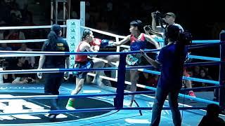 Huỳnh Hà Hữu Hiếu thắng Knock out đoạt 'đai vô địch' hạng Flyweight Nữ USC Muay Thai chuyên nghiệp