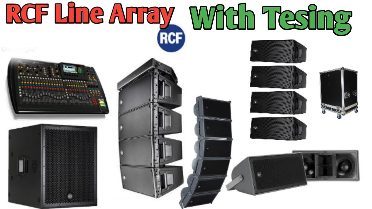 Rcf Line Array Sound Check Speaker Setup LineAarray Sound System
