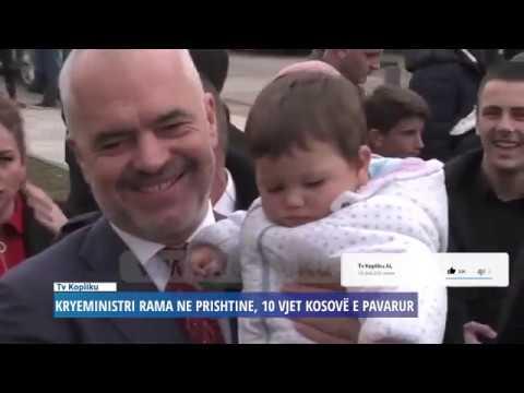 Duartrokitje të jashtëzakonshme per Kryeministrin Edi Rama ne Prishtine - 10 VJET KOSOVË E PAVARUR