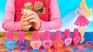 Детская косметика и другие вещи Барби Обзор Видео для девочек