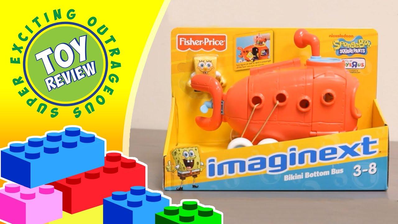 Spongebob Squarepants Imaginext Bikini Bottom Bus Toys R Us