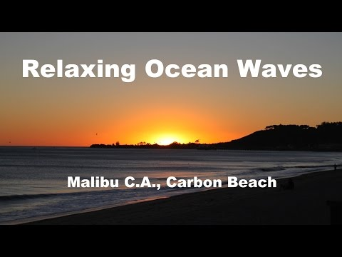 Relaxing Meditation Music: 3 hours Sound of Waves of Pacific Ocean at Malibu Beach California