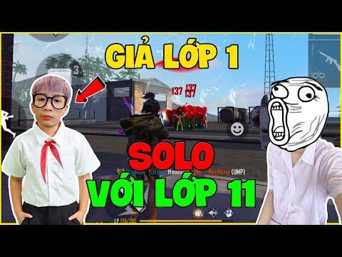 FREE FIRE   Đức Mõm Giả Lớp 1 Solo Với Lớp 11, Thanh Niên Gáy To Và Cái Kết !!!