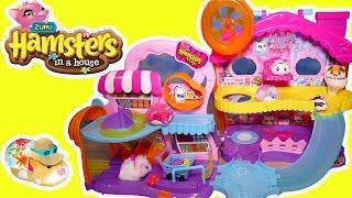 ЗАВОДНЫЕ ЖИВОТНЫЕ домик хомячка ИГРУШЕЧНЫЕ ХОМЯЧКИ  домик ИГРУШКИ РАСПАКОВКА ZUZU hamster house toy