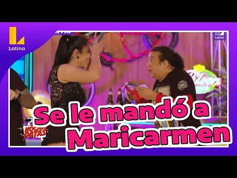 😈🤣 Carlos Vílchez se le mandó a Maricarmen Marín mientras participaban de un juego
