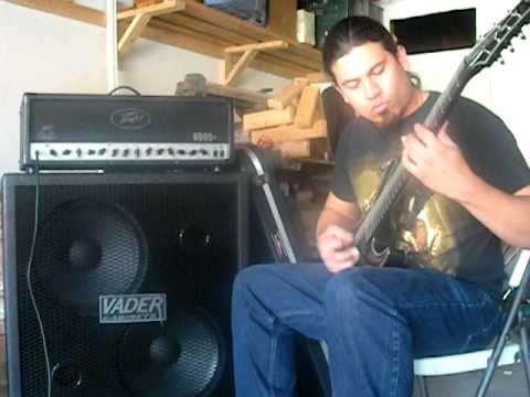 Peavey 6505+ through a Vader Cab 2X15 - YouTube