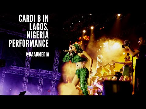 Cardi B in Lagos, Nigeria Performane (Vertical Video)