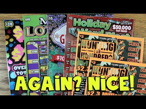 AGAIN? 💰 $100 Or $200, Holiday Greetings & MORE! ✦ LOTTERY SCRATCH OFF TICKETS
