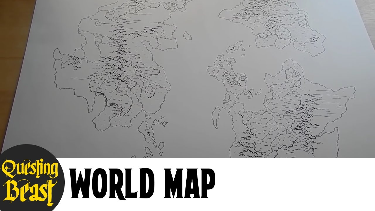 A Complete World Map Dnd Fantasy Map Showcase Youtube