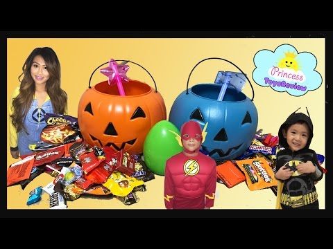 Thumbnail: HALLOWEEN TRICK OR TREAT Toy Egg Surprise Kids Candy Outdoor Fun for Kids Super Hero in real life