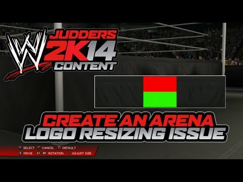 example of wwe 2k14 arena logo issues youtube