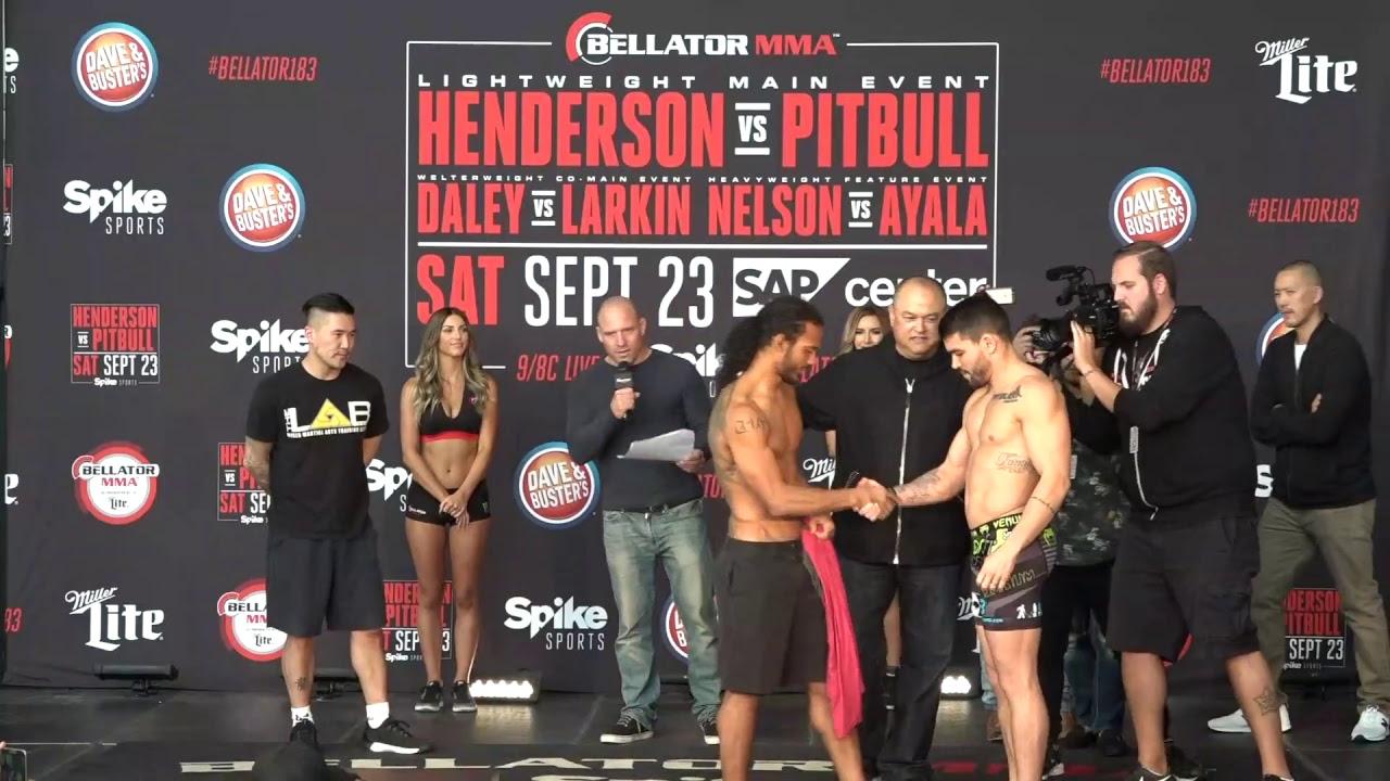 Bellator 183: Henderson vs. Pitbull LIVE Weigh Ins