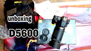 Unboxing Nikon D5600 Dual Lens 18-55mm to 70-300mm with 16gb memory card with bag flipkart