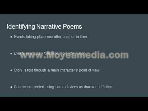 Narrative Poetry Analysis