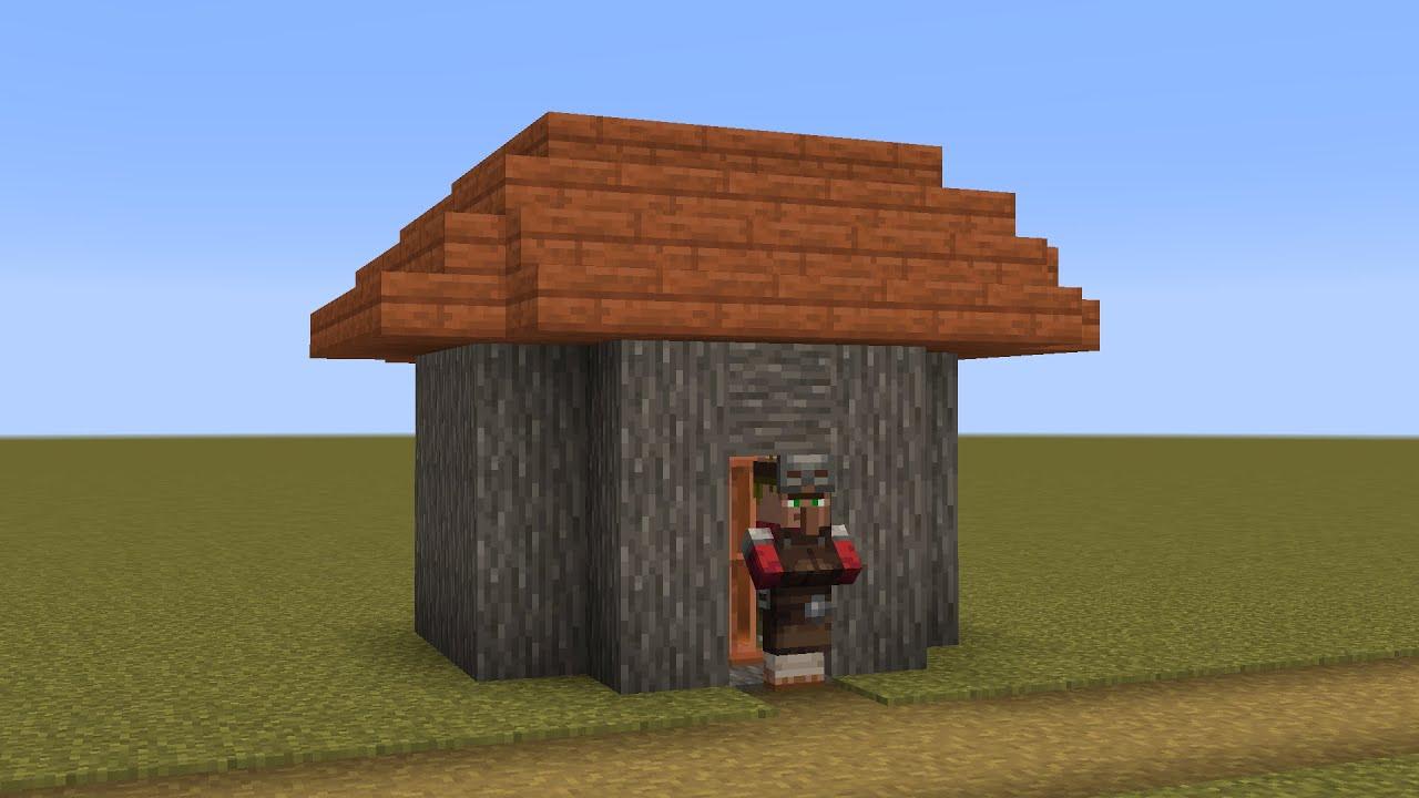 How to build a Minecraft Village Armorer (9.94 savanna)
