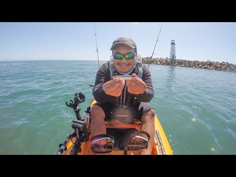 Santa Cruz Fishing With Aaron, New Mic And Kayak Kart Placement On The Hobie Compass