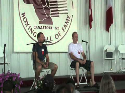Mickey Ward & Dickie Eklund Q & A at Boxing Hall of Fame 2011
