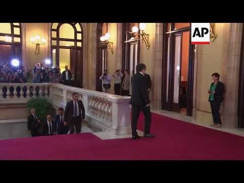 Catalan President arrives at regional parliament