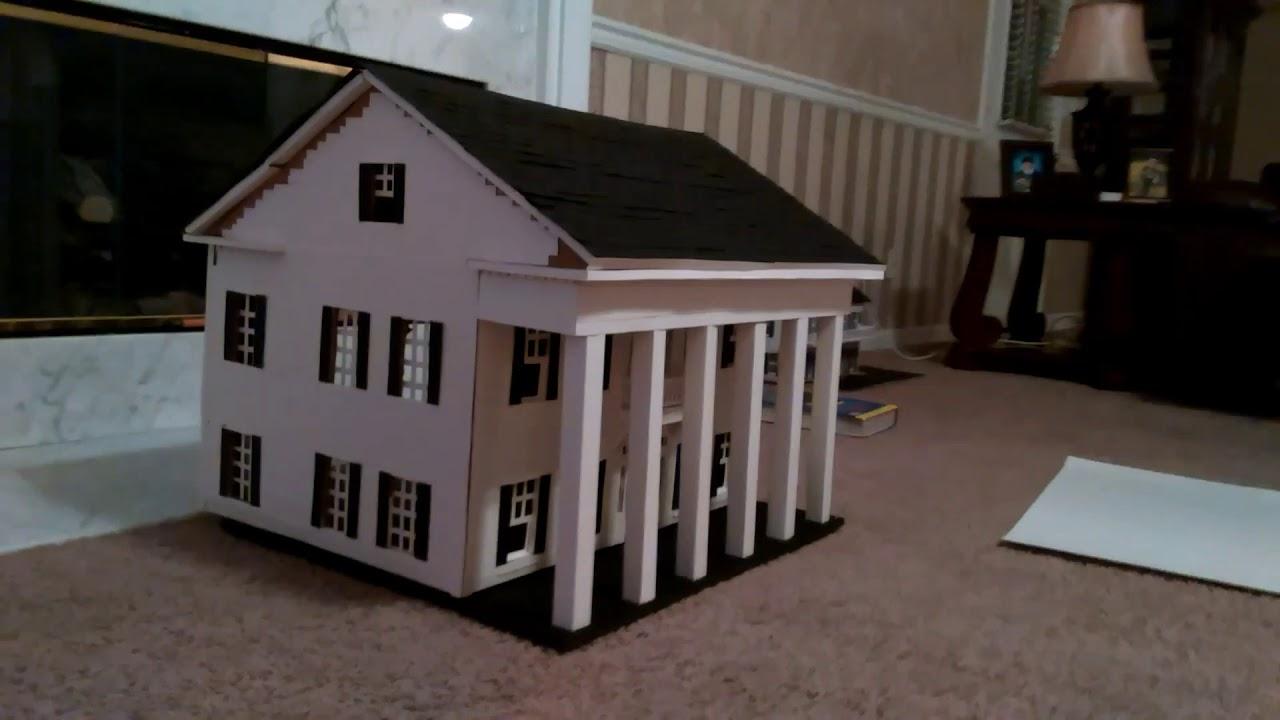 Diy Model House From Cardboard