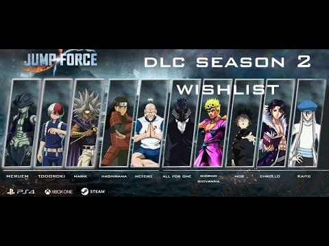 Jump Force Season 2 Dlc Characters Wishlist Youtube