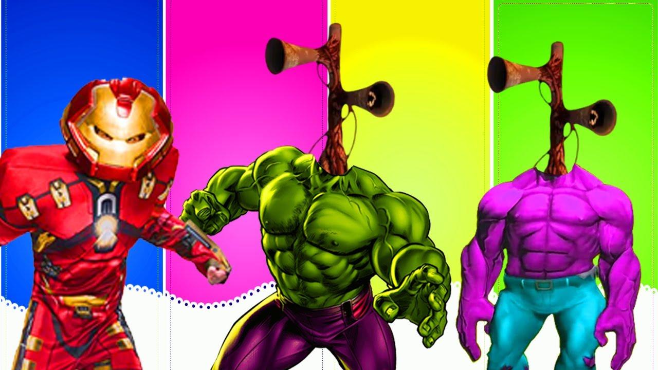 팀헐크 사이렌헤드 VS 아이언맨 히어로 대결! Wrong Superheroes Puzzle 리콩수콩RikongSukong