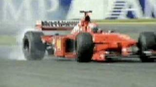 eddie irvine celebrating his first career victory - F1 melbourne 1999