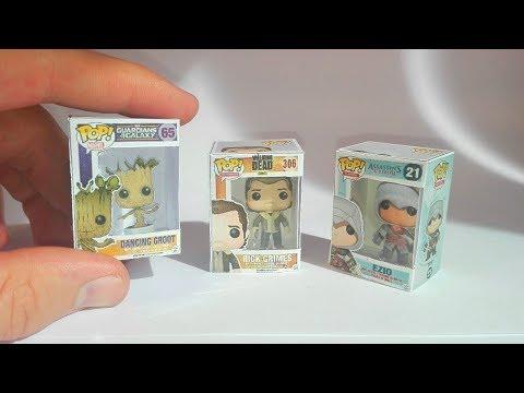 Funko Pop miniature en papercraft - DIY mini funko Pop