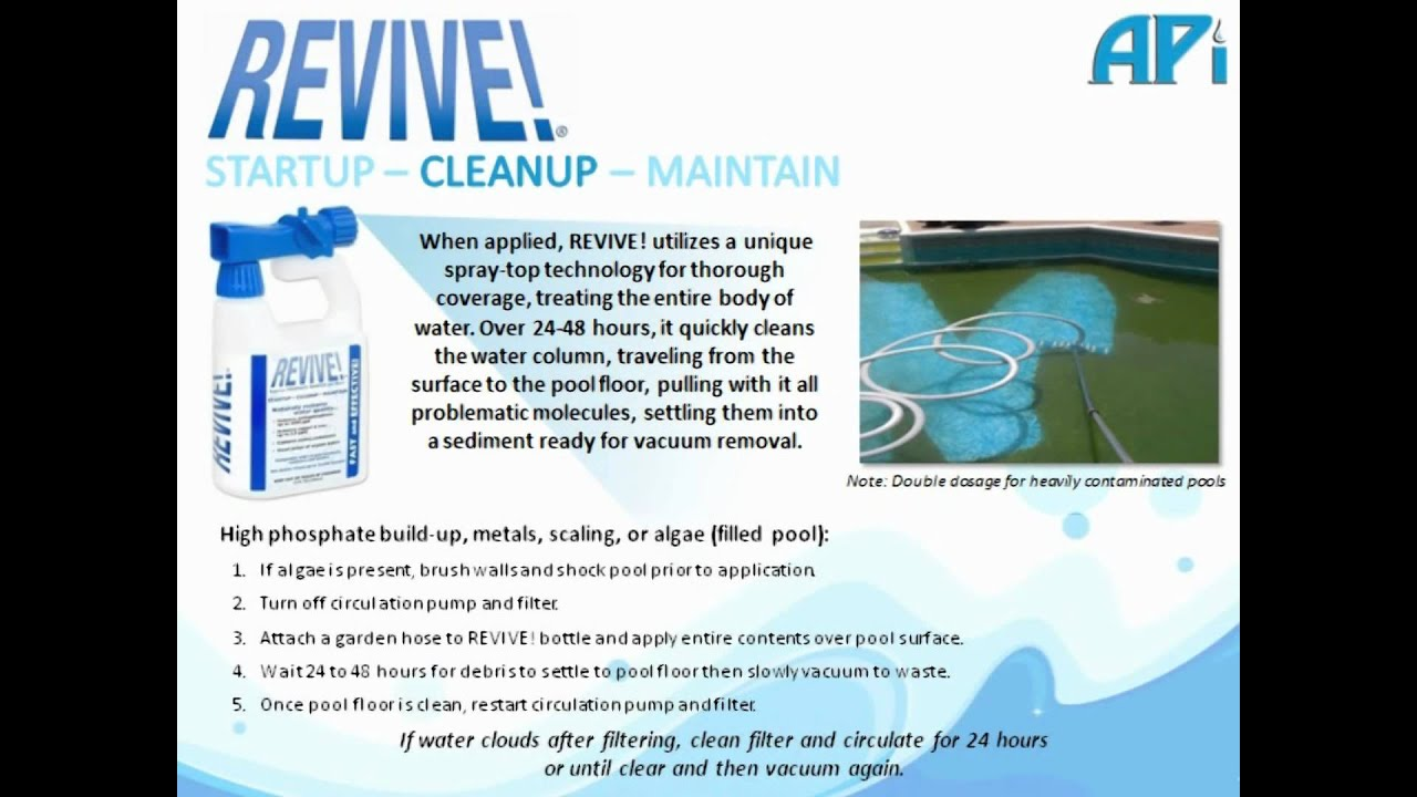 Revive The New Revolution In Pool Water Care Clears Any Pool Every Time Youtube
