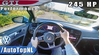 2019 VW Golf GTI Performance 245HP POV Test Drive by AutoTopNL