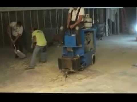 flooring demo machine