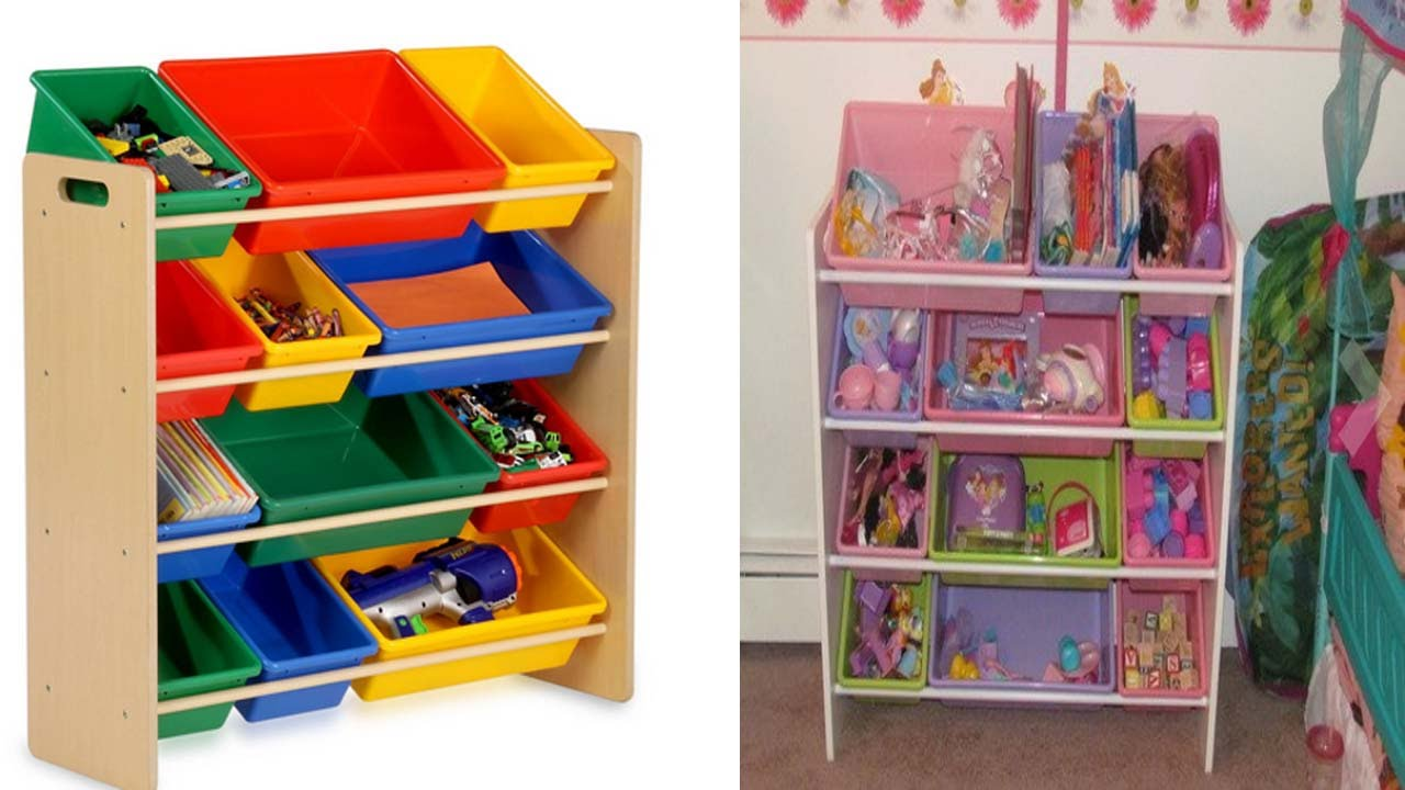 honey can do toy organizer and kids storage bins review youtube