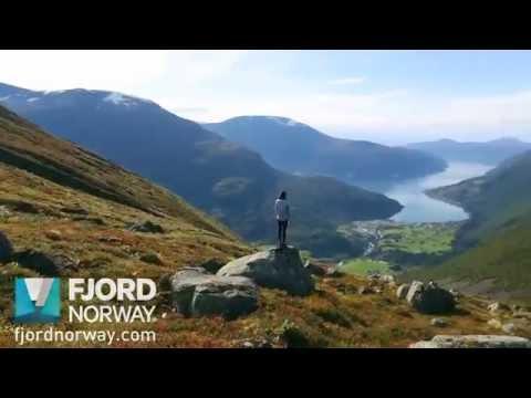 Hiking Mt Skåla - Fjord Norway