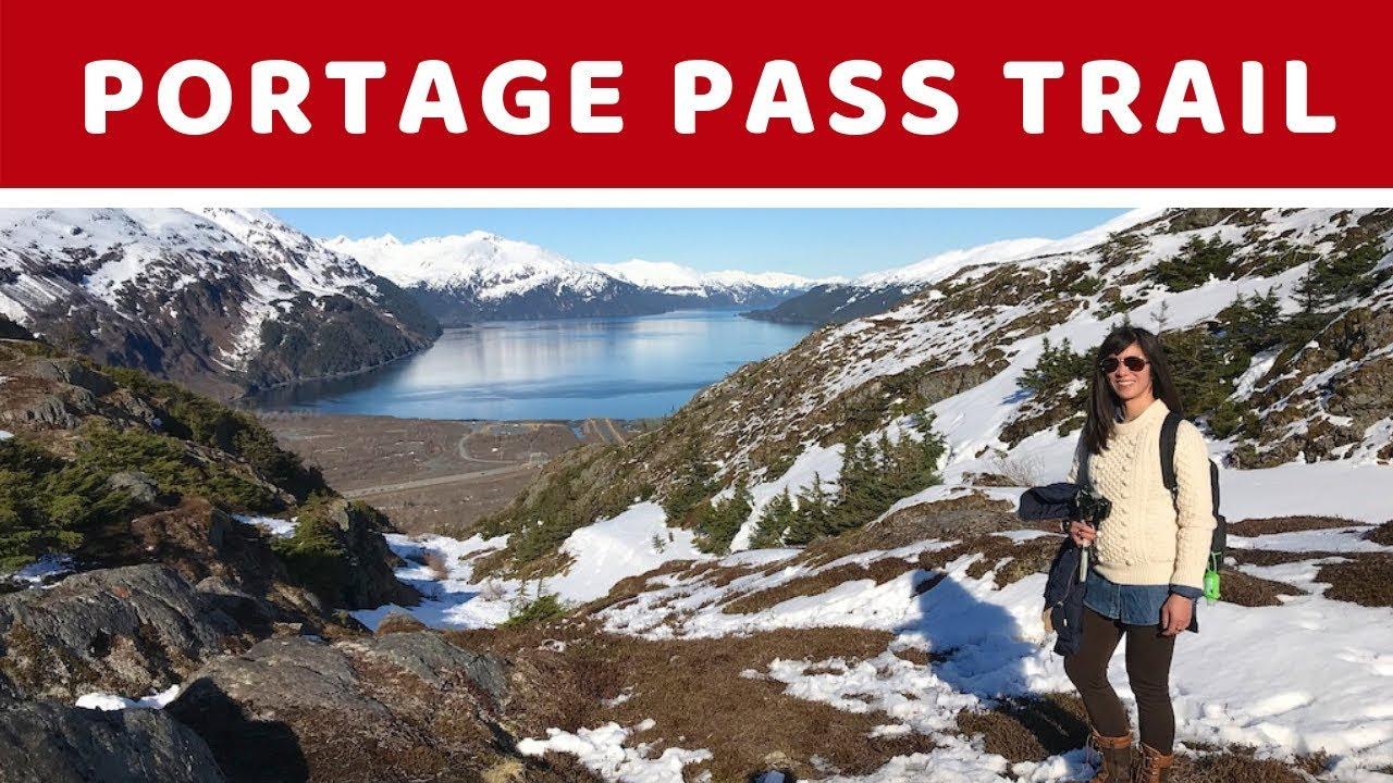 Portage Pass Trail Hike To Portage Glacier Alaska April 2019 Travel Vlog Youtube