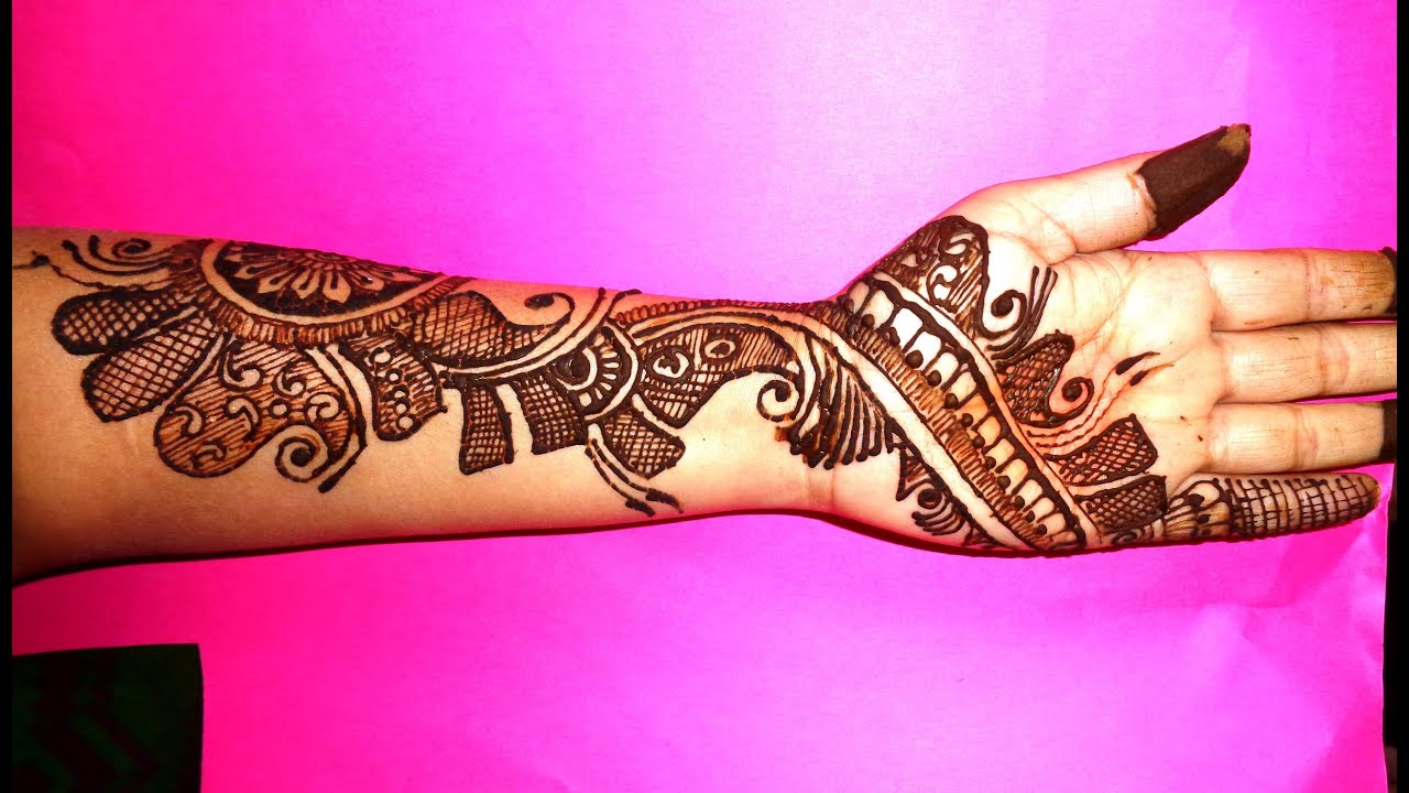 Arabic Mehndi Designs For Hand : Beautiful arabic mehndi design on left hand youtube