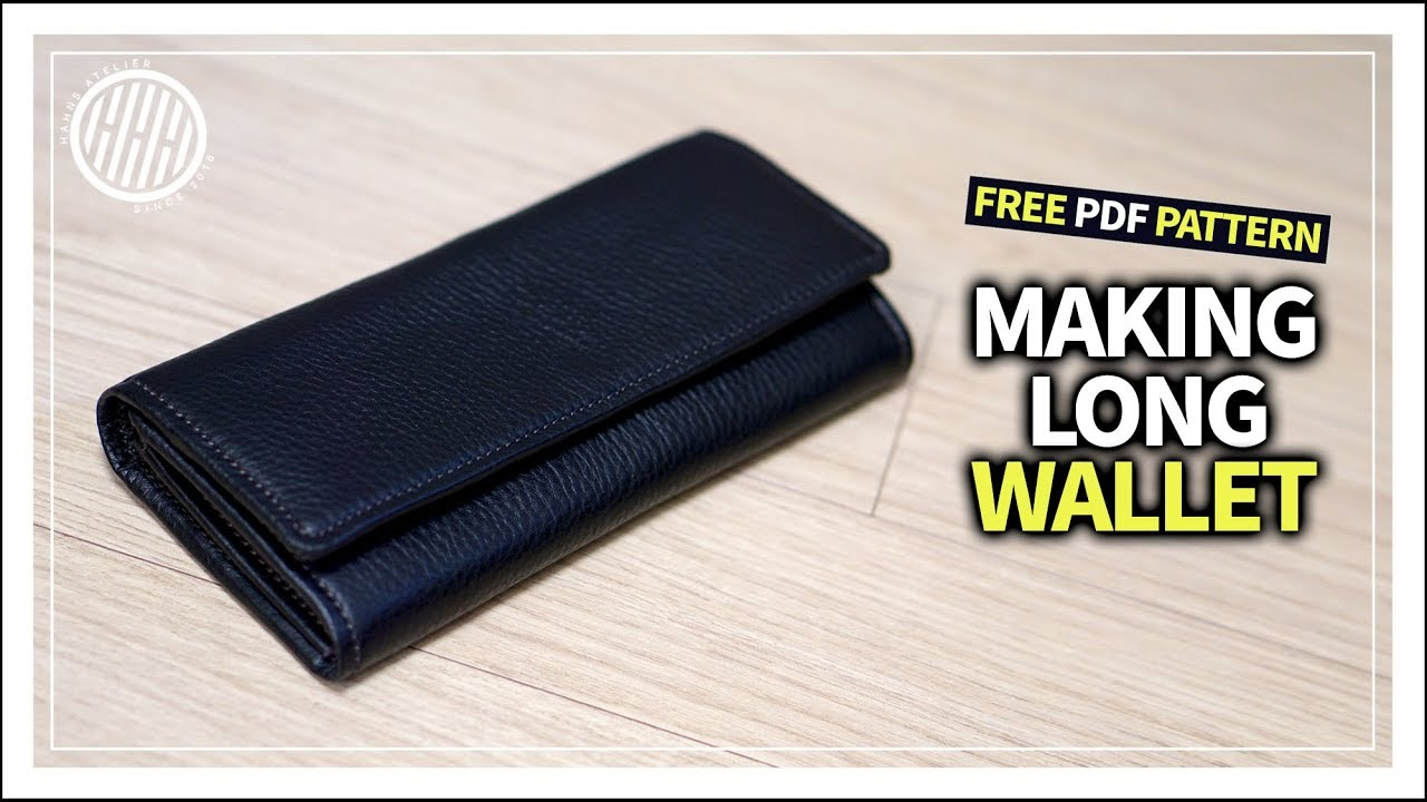 4d233652c97c Leather Craft  How to make a Long-wallet   making purse   tutorial ...