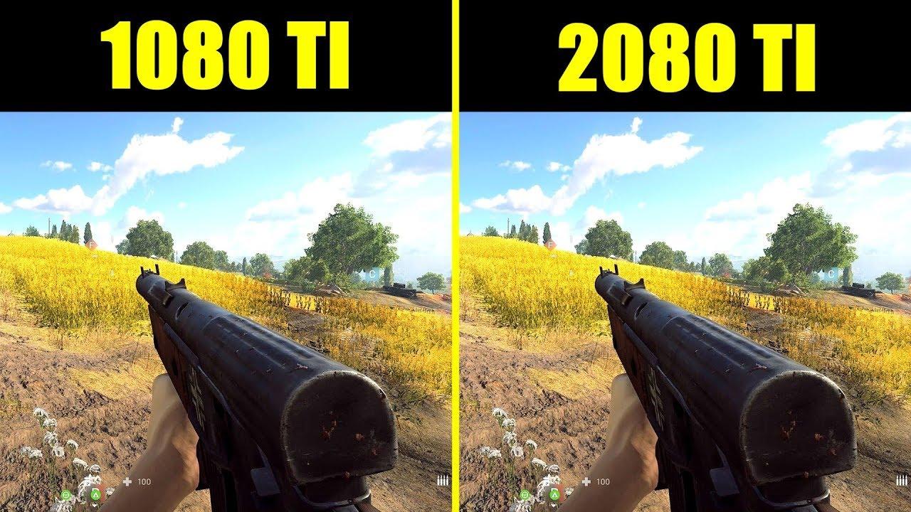Battlefield 5 RTX 2080 TI Vs GTX 1080 TI 4K Frame Rate Comparison