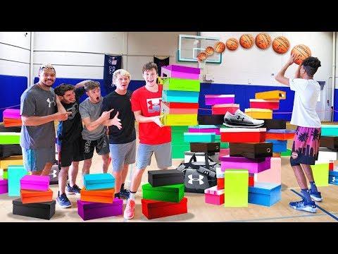 Make The Shot.. I'll Buy You RARE Basketball Shoes!