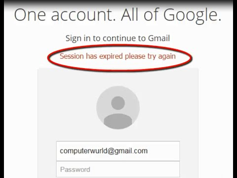8208d9d8 Google Chrome displaying 'Session has expired please try again' message in  the gmail sign in page