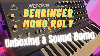 Behringer MonoPoly First Impressions (Unboxing & Sound Demo)