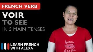 Voir (to see) in 5 Main French Tenses