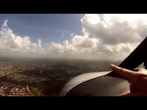 VFR flight KFXE-KPBI , with ATC audio and GOPRO cockpit camera.