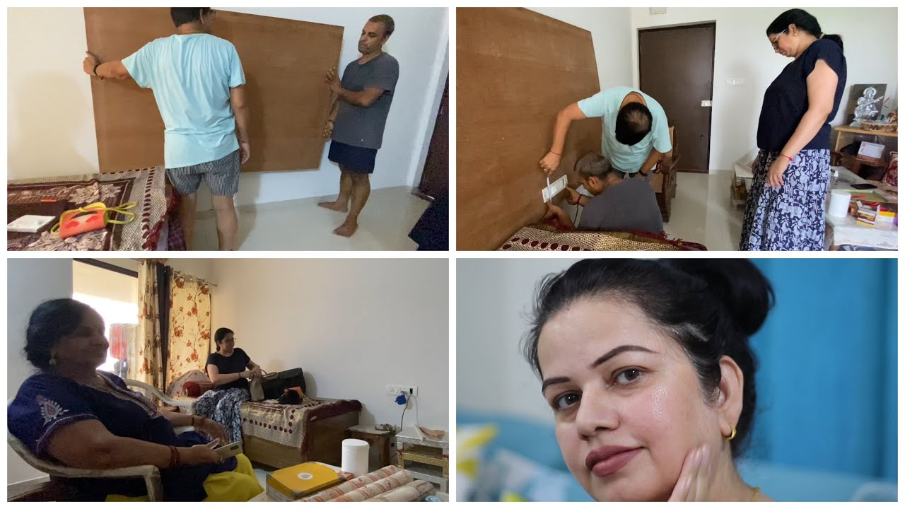 New Changes in New House | Working on DIY TV Unit | Indian family vlogs | Priductive Day