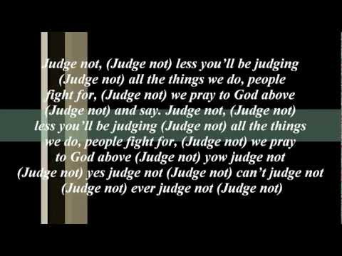 Morgan Heritage Judge Not (song Lyric)