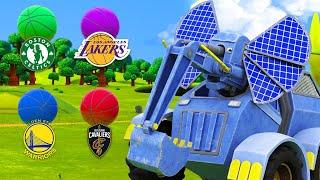 Учим Цвета с помощью команд американской Национальной Баскетбольной Ассоциации (NBA)  Мультфильмы