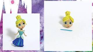 Как слепить из пластилина Принцессу Золушку? Лепим из пластилина. How to clay princess Cinderella.